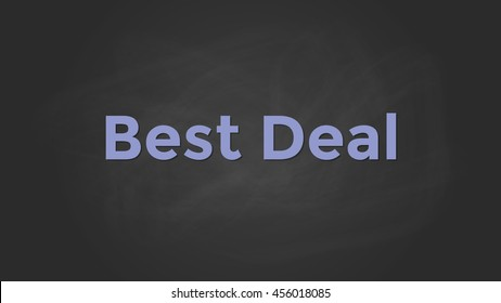 best deal with blackboard text poster and chalkboard effect vector graphic illustration
