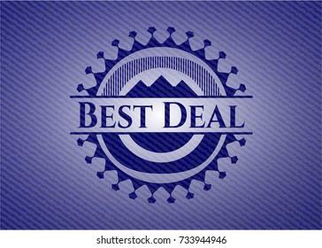 Best Deal emblem with denim texture