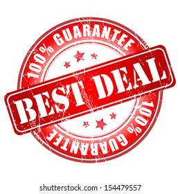 Best deal guarantee stamp.  Vector illustration.