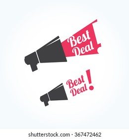 Best Deal Megaphone Icon