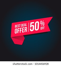 Best Deal Offer 50% Off Tag