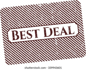 Best Deal rubber stamp with grunge texture