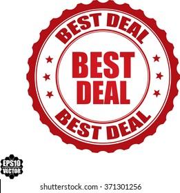 Best deal stamp.Vector.