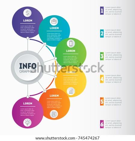 Best Diagram Business Presentation 6 Options Stock Vector Royalty