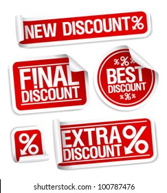 Best discount sale stickers set.