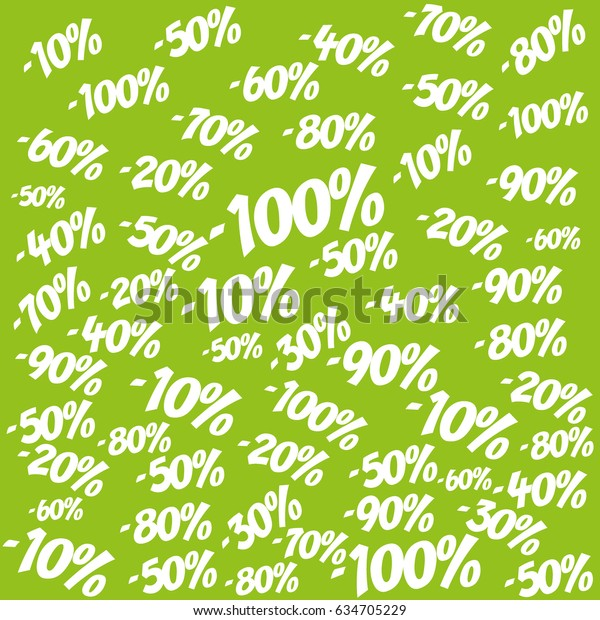 Best Discounts Town Background Percent Discount Stock Vector