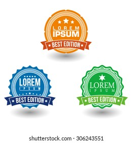Best edition, retro vintage badges and labels.  Vector illustration.
