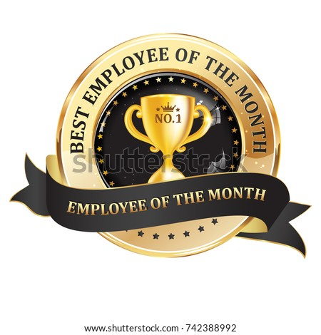 best employee month work recognition award stock vector royalty