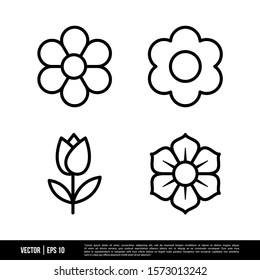 The best Flower icons vector collection, illustration logo template in trendy style. Suitable for many purposes.