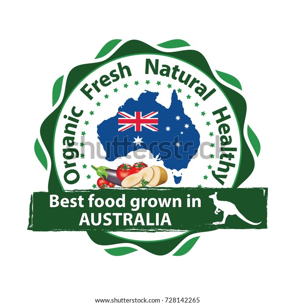Free Map Of Australia To Print.Best Food Frown Australia Sticker Print Stock Vector Royalty Free