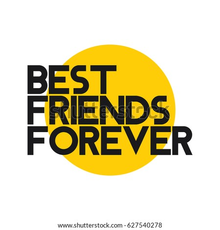 best friend forever logo vector template stock vector royalty free