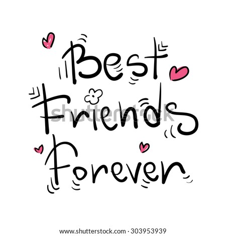 best friends forever greeting card poster のベクター画像素材
