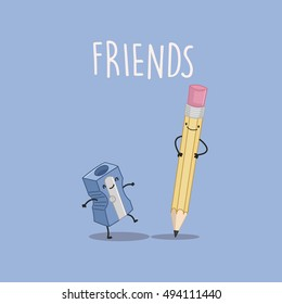 Best friends forever: pencil and sharpener, complicated friendship