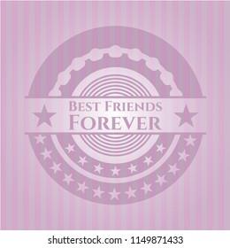 Best Friends Forever retro style pink emblem