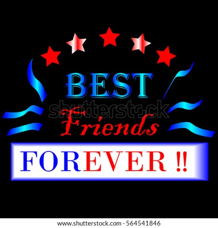 Best Friends Forever Typographic Design Vector Stock Vector Royalty