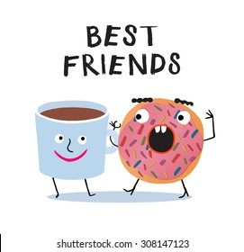 Best friends illustration. Eps.