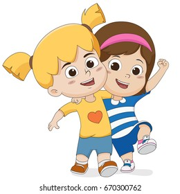 Hug Friends Cartoon Images Stock Photos Vectors Shutterstock