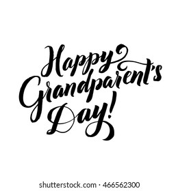 The Best Grandpa! Happy Grandparent's Day Calligraphy on White Background