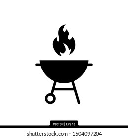 The best Grill icon vector, illustration logo template in trendy style. Suitable for many purposes.