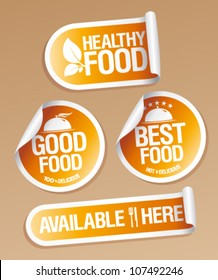 Best Healthy Food stickers pack.