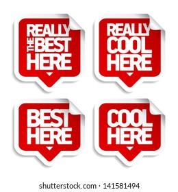 The best here speech bubble stickers