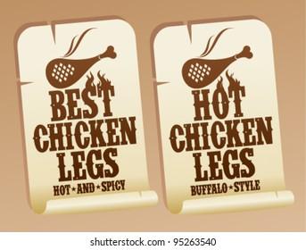 Best hot chicken legs stickers.