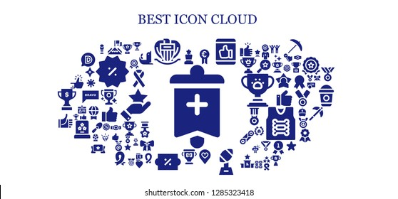 best icon set. 93 filled best icons. Simple modern icons about  - Banner, Award, Achievement, Nice, Prize, Like, Favorite, Trophy, Discount, Thumbs up, Winner, Ribbon, Seal, Star