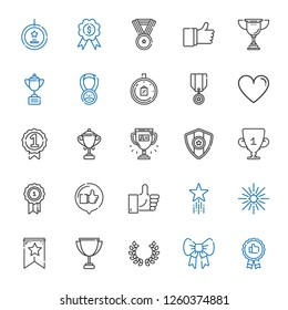 best icons set. Collection of best with recommended, ribbon, laurel, trophy, banner, star, favorite, like, medal, badge, limited time, best seller. Editable and scalable best icons.