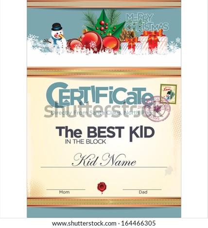 Best Kid Block Certificate Template Stock Vector Royalty Free