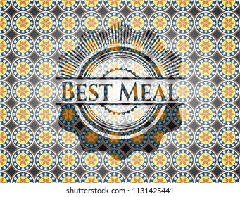 Best Meal arabic emblem. Arabesque decoration.