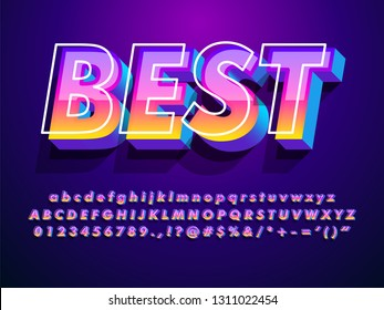 """best"" modern and futuristic font with cool effect"