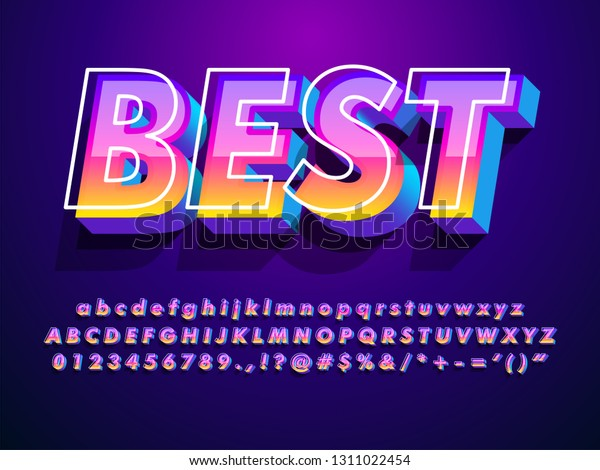 """""""best"""" modern and futuristic font with cool effect"""