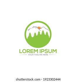 The Best Mountain Logo and best hill logo Abstract Natural Mountain logo