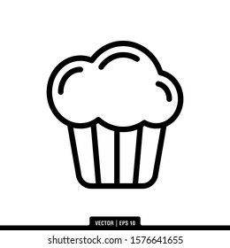 The best Muffin icon vector, illustration logo template in trendy style. Suitable for many purposes.