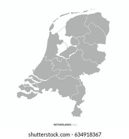 best Netherlands map outline vector