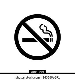 The best of No Smoking icon vector, illustration logo template in trendy style. Suitable for many purposes.