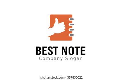 Best Note Logo Design Illustration