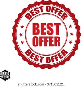 Best offer stamp.Vector.