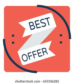 Best Offer Vector Icon