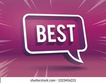 Best on Speech bubble