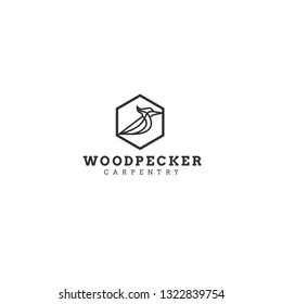 best original logo designs inspiration and concept for wood, carpentry, construction and woodpecker