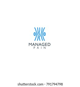 best original logo designs inspiration and concept for pain managed by sbnotion
