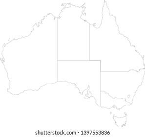 best popular Australia black and white map