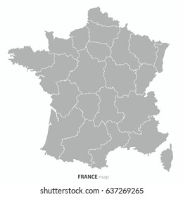 best popular France country map outline vector