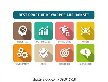 Best Practice Flat Icon Set