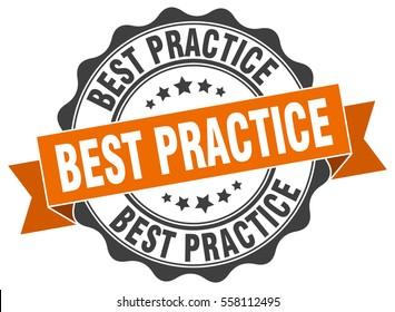 best practice. stamp. sticker. seal. round grunge vintage ribbon best practice sign