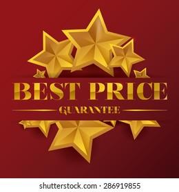 Best price design over red background, vector illustration.