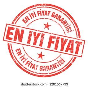 Best Price Guarantee (En Iyi Fiyat Garantisi) Stamp in Turkish
