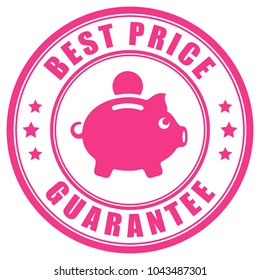 Best price guarantee vector label isolated on white background