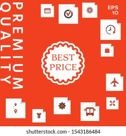 Best Price label icon. Graphic elements for your design
